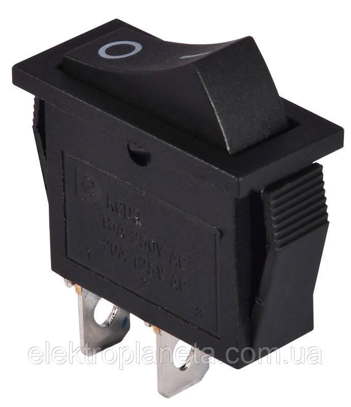 Перемикач клавіатури KCD3-101 B/B 1 клав. чорний