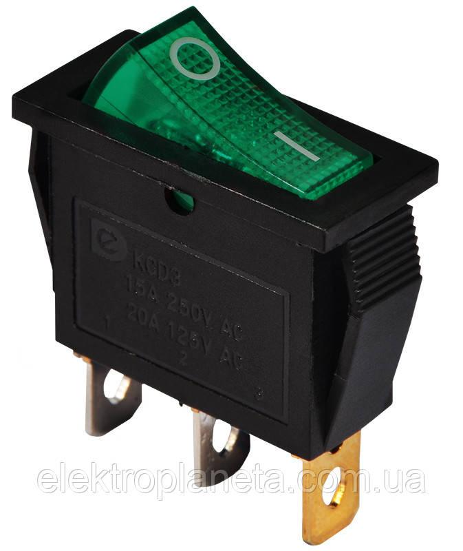 KCD3-101N      GR/B  1 клав.  з підсвічуванням (зелена)