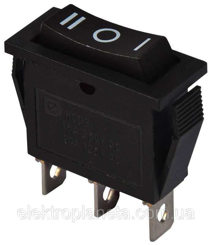 KCD3-103            B/B  1 клав. перекидний (чорний)
