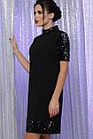 Платье черное с цветными пайетками Бетти, фото 3