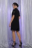 Платье черное с цветными пайетками Бетти, фото 4