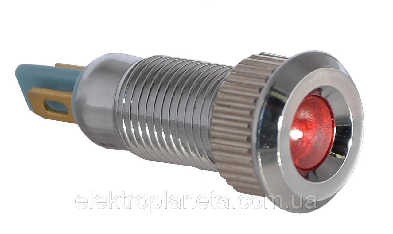 Сигнальна арматура TY08F червона 24V AC/DC