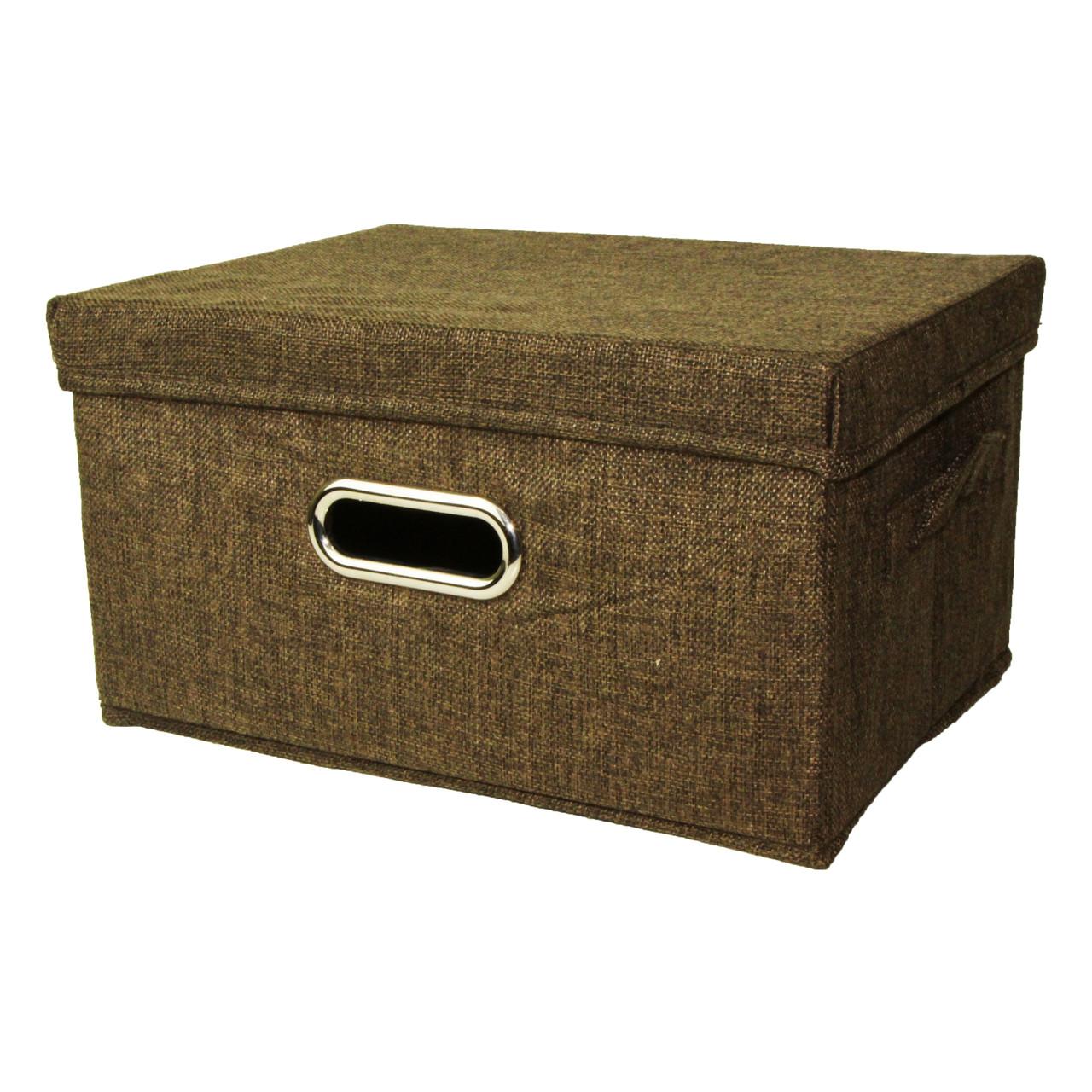 Корзина для игрушек MR 0339-1(Brown) ящик, коробка, 33-25-18см