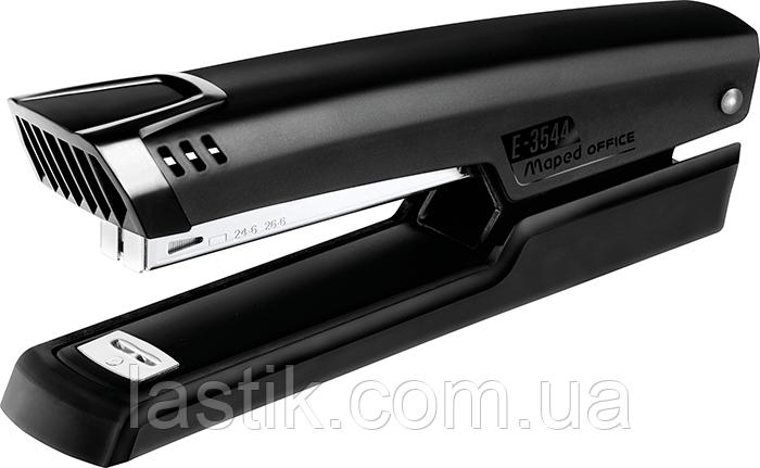 Степлер настольный ESSENTIALS METAL удлиненный металлический 25л (скобы №24/6 26/6) черный, фото 2