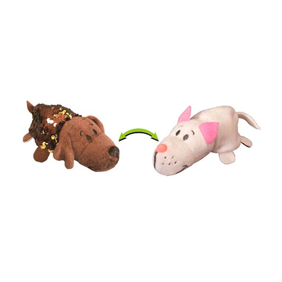 Мягкая игрушка с пайетками 2 в 1 - ZooPrяtki - ЛАБРАДОР-КОТ (12 cm), 554IT-ZPR