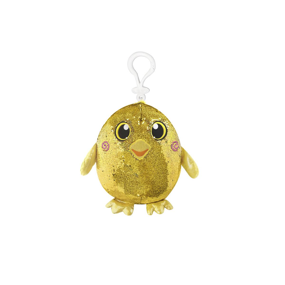 М'яка іграшка з паєтками SHIMMEEZ – РАДІСНА КАЧЕЧКА (9 см, на кліпсі), SMZ01000Du