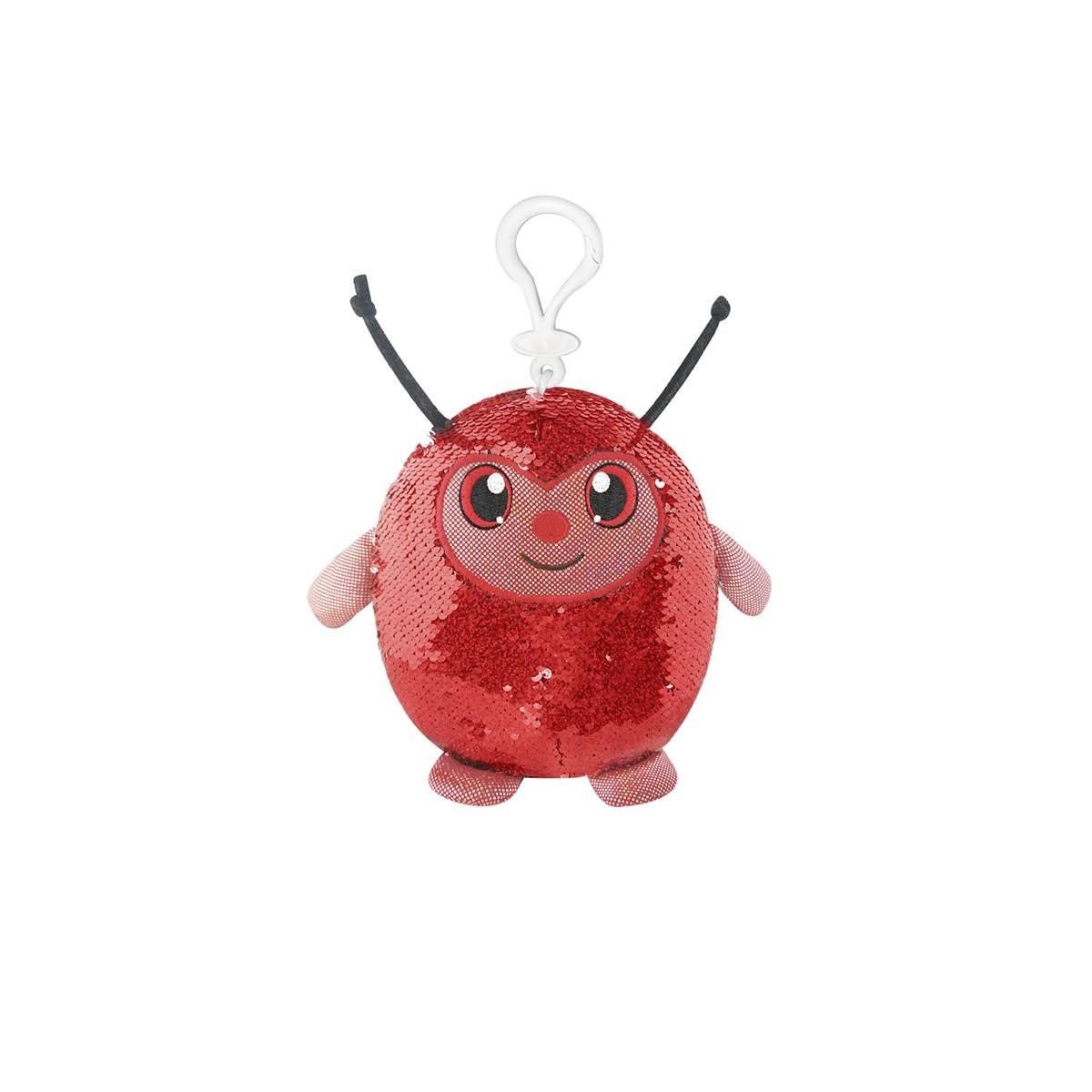 М'яка іграшка з паєтками SHIMMEEZ – СИМПАТИЧНА БОЖА КОРІВКА (9 см, на кліпсі), SMZ01000L