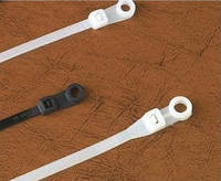 Кабельная стяжка с кольцом под монтаж 3.5х100 мм (50 шт.) белые LXL
