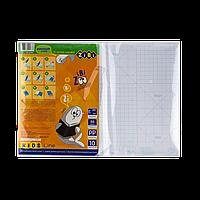 Пленка самоклеящаяся для книг 10 листов (38x27см) / кулек прозрачная KIDS Line
