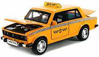 Машинка Металлическая ВАЗ 2106 Такси, фото 1