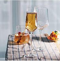 Бокал для шампанского Прозрачная бирюза 250 мл FD001-1