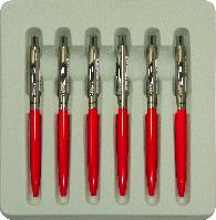 Шариковая ручка красная