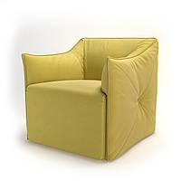 Кресло мягкое для кафе, бара, ресторана, отеля, офиса, лаунж, HoReCa, желтое