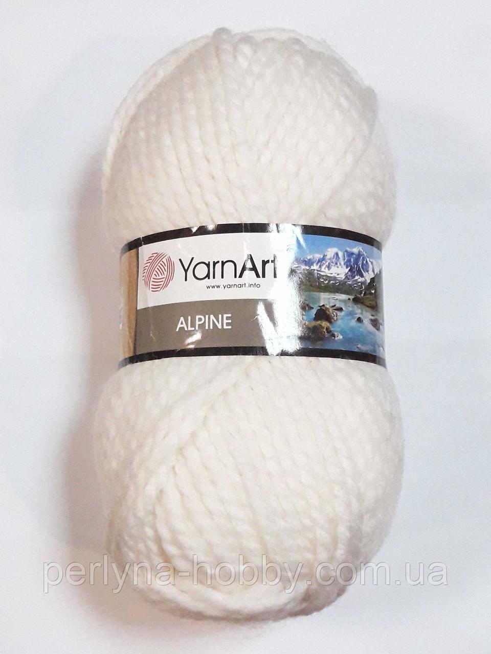 Товста пряжа для в'язання YarnArt Alpine. Толстая пряжа Альпин сіра світла