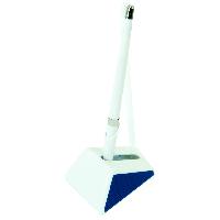 #@$Ручка шарик на подставке WHITE MIX DeskPen L2U 07 мм синие чернила