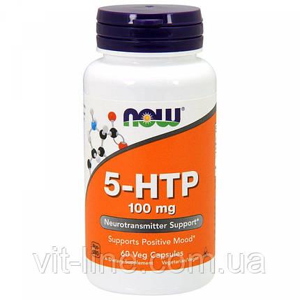 Now Foods,5-HTP, 100 мг, 60 растительных капсул, фото 2