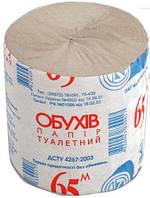 $/Бумага туал макул Обухов 65 без гильзы серый