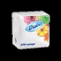 /Салфетки бумажные Диво 240*240 100шт в п/п упак белый