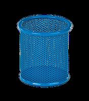 Подставка для ручек круглая 90х90х100мм металлическая синий KIDS Line