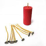 Фитиль для свечей вощеный 3 мм с металлическим держателем. Высота 15 см, фото 2