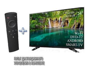 """Телевизор Tosiba 24"""" Smart-TV FullHD T2 USB + Пульт дистанционного управления"""