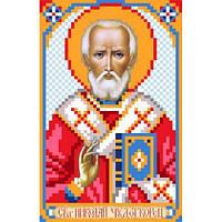 3027 Святой Николай Чудотворец. Матренин Посад. Схема на ткани для вышивания бисером