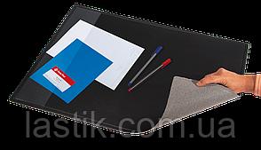 #Подкладка д/письма черн (652x512 PVC) c карманом