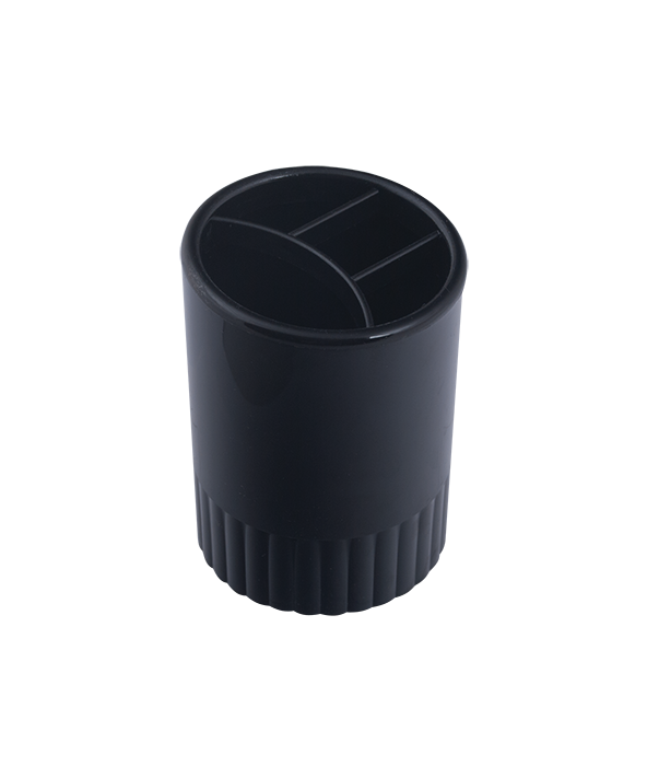 /Склянку пласт для письмового приладдя 4 відділення чорний