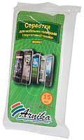 /Салфетки для мобильных телефонов и портативной техники 15 шт/уп  влажные (Р)