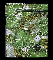 /Книга канцелярская FLORISTICA А4 192 л клетка офсет твердая ламинированая обложка зеленая