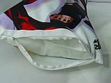 Подушка-обнимашка Дакимакура 150 х 50 Чжун Ли и Утати Утиха (Uchiha / Zhongli) для обнимания двухсторонняя, фото 5
