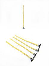 Фитиль для свечей вощеный 5 мм металлический держатель (сталь). Высота 30 см.