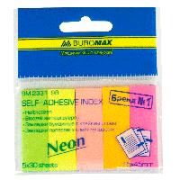 ^Закладки бумажные NEON 45x15 мм 5 цв по 30 л