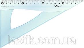 #Угольник ESSENTIALS 60гр/210мм пластик дисплей