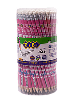 Карандаш графитовый FLOWERS HB с ластиком туба KIDS Line