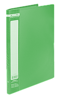 $Папка пластиковая с 20 файлами JOBMAX А4 зеленая