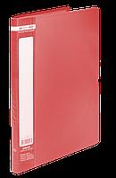 $Папка пластиковая с 20 файлами JOBMAX А4 красная