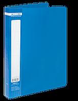 $Папка пластиковая с 40 файлами JOBMAX А4 синяя