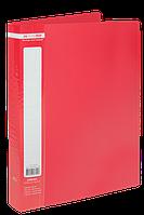 $Папка пластиковая с 40 файлами JOBMAX А4 красная