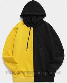 Худи для девочки трикотаж двухнитка жёлто-черная