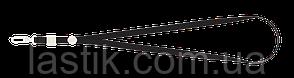 Шнурок с карабином для бейджаидентификатора 460х10 мм черный
