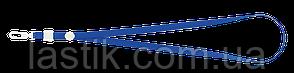 Шнурок с карабином для бейджаидентификатора 460х10 мм синий