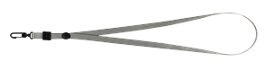 Шнурок с карабином для бейджаидентификатора 460х10 мм серый