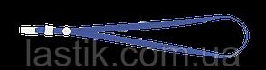 Шнурок с клипом для бейджаидентификатора 460х10 мм синий