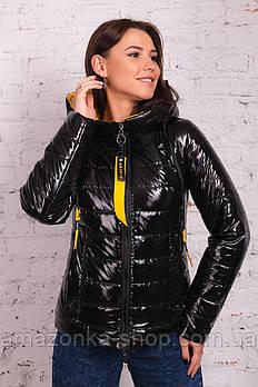 Стильная лакированная куртка для женщин весна 2021