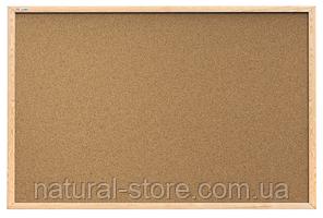 """Пробкова дошка для нотаток 60х40см в дерев'яній рамі TM """"ALL boards"""""""