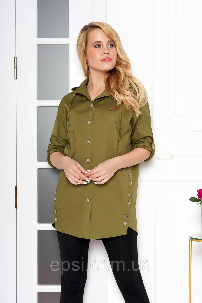 Рубашка женская Arizzo AZ-114 (хаки) M (99015076)