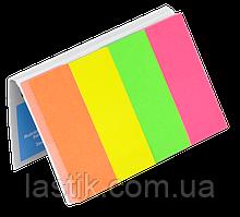 Закладки бум с клейким слоем 4 цвх50л 20х50мм (неон ассорти)