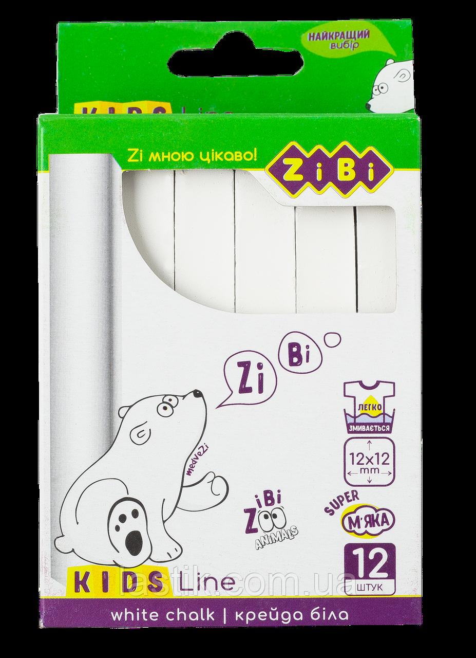 /Мел белый квадратный 12 шт картонная коробка KIDS Line