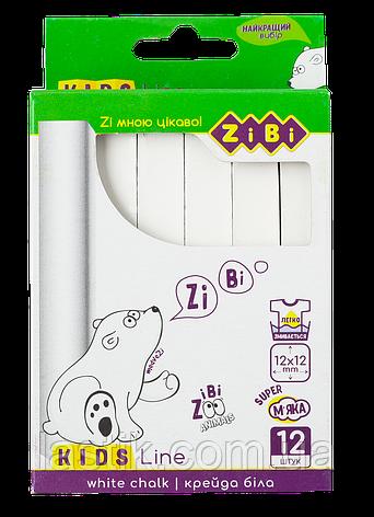 /Мел белый квадратный 12 шт картонная коробка KIDS Line, фото 2